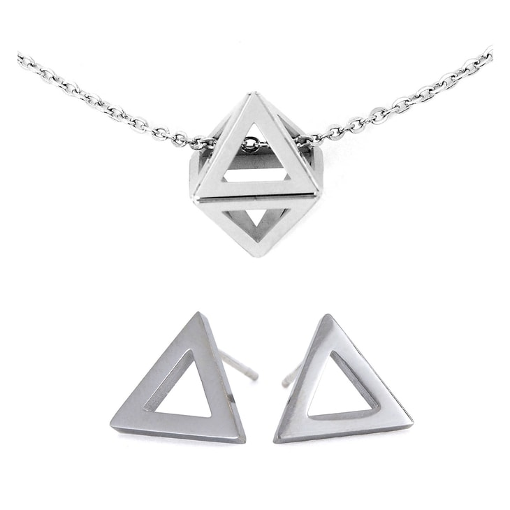 Triangle Silver Set