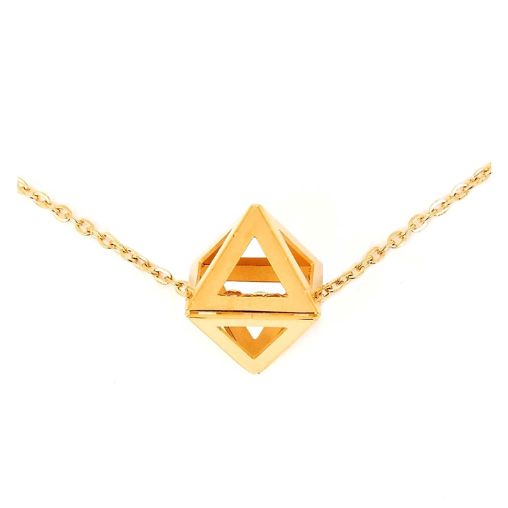 Colier Triangle Gold