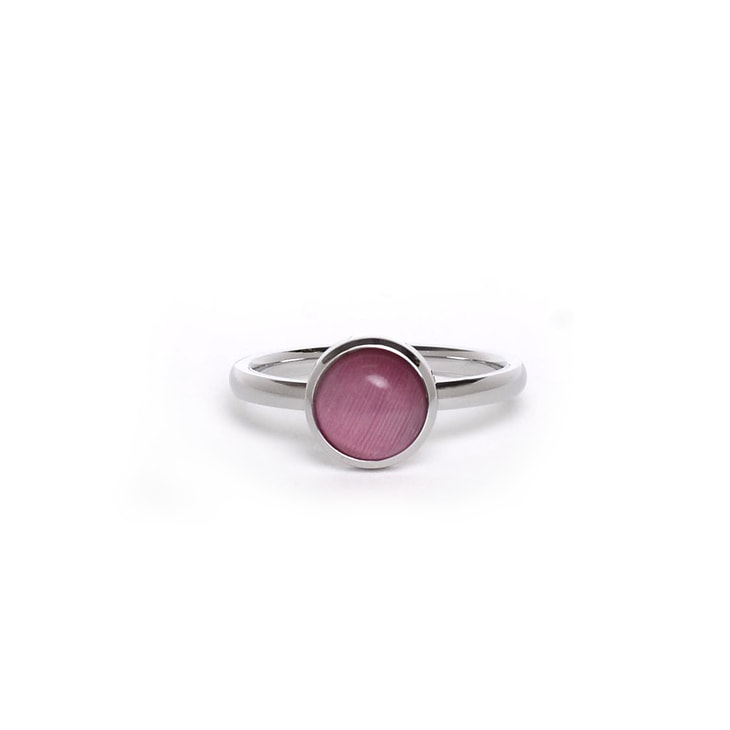 Inel Pearl Silver Pink